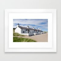 Pilots cottages Llanddwyn Framed Art Print