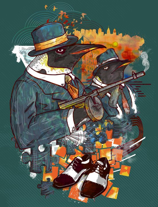 Mobster Puzzle Art Print