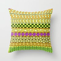 Yzor Pattern 011 Yellow … Throw Pillow