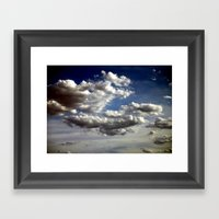 Cloud Formations Framed Art Print