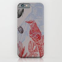 iPhone & iPod Case featuring Beetles and Bird by VitaliGisko