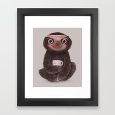 Sloth I♥yoga Framed Art Print