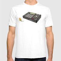 Deep Space 9mm Mens Fitted Tee White SMALL