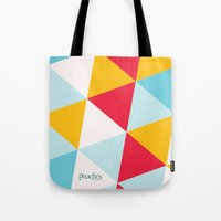 Tropical Triangles Tote Bag