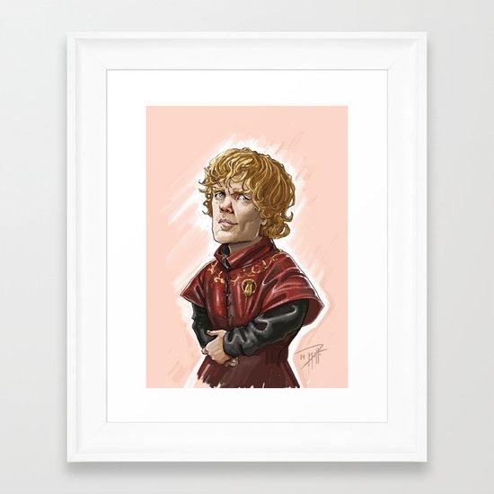 Tyrion Lanister Framed Art Print