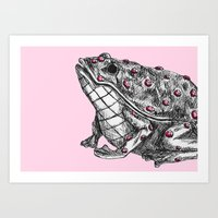 Lilly's Frog Art Print