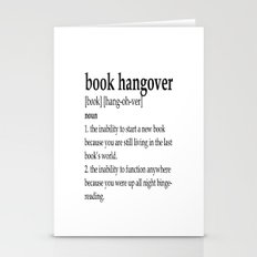 Book hangover defintion Stationery Cards