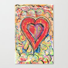 Jasper Heart Canvas Print