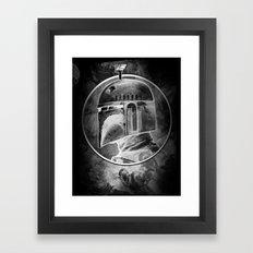 Boba Fett remix (negative) Framed Art Print