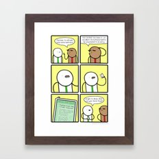 Antics #280 - breaking news Framed Art Print