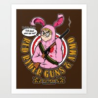 Red Ryder Guns & Ammo Art Print