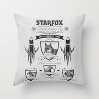 Star Fox Vintage Poster … Throw Pillow