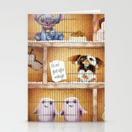 Stationery Cards featuring The Cosmic Pet Shop by Rubbishmonkey