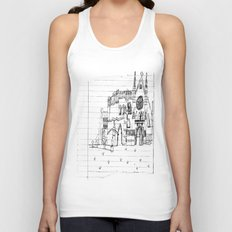 Childhood Drawings (Cathedral) Unisex Tank Top