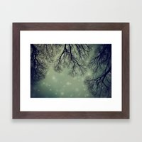 Alien Invader Trees Framed Art Print