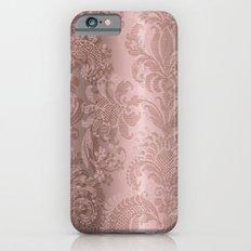 3D pink damask pattern Slim Case iPhone 6s