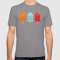 Ice Lollies Mens Fitted Tee Tri-Grey SMALL