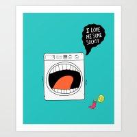 Sock Eater 1000 Art Print