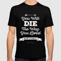 QUOTES Mens Fitted Tee Black SMALL