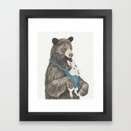 The Bear Au Pair Framed Art Print