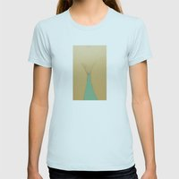 Delicate Womens Fitted Tee Light Blue SMALL