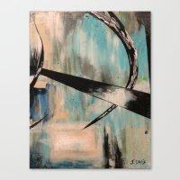 Canvas Print featuring Blue Part 2 by James Davis