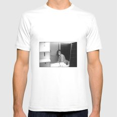 Rendez-vous#03 White SMALL Mens Fitted Tee
