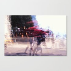 Summer holiday or under a red umbrella Canvas Print