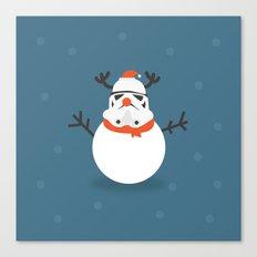 Day 16/25 Advent - Snow Trooper Canvas Print