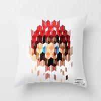 Crystal Mario Throw Pillow
