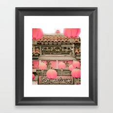 Los Angeles - Chinatown … Framed Art Print