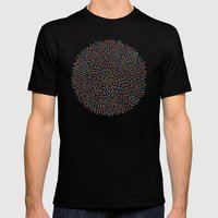 Circle Murmuration Mens Fitted Tee Black SMALL