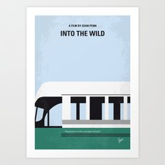 No677 My Into the Wild minimal movie poster Art Print
