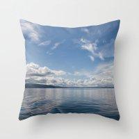 Infinite: Oslo Harbor Throw Pillow
