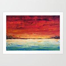 Red Meets Sea Art Print