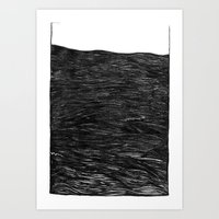 water at night Art Print