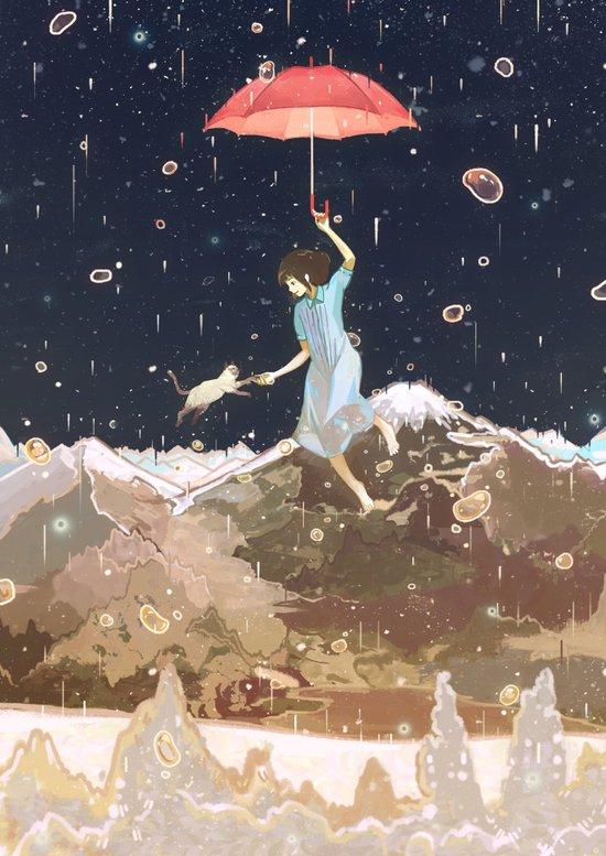 Rain returns Night Art Print
