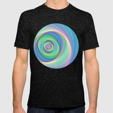 Asymmetric circles around the circle Mens Fitted Tee Tri-Black SMALL