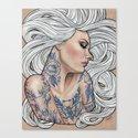 Inked Canvas Print