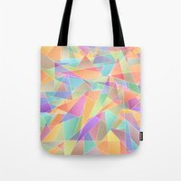 The Geometric Glass Shatter Tote Bag