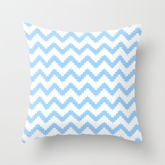 funky chevron blue pattern Throw Pillow