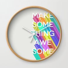 Make Something Awesome Wall Clock