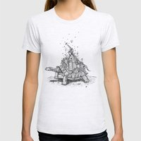 Tortoise Town Womens Fitted Tee Ash Grey SMALL