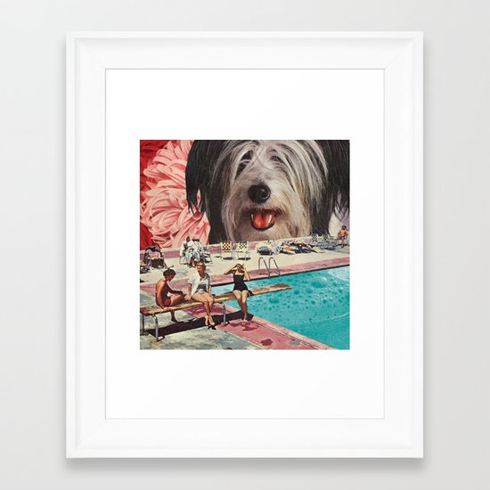 Dog Days of Summer Framed Art Print