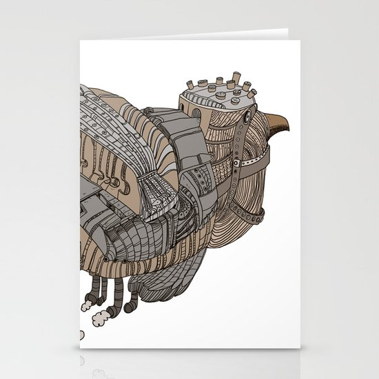 Space Bird Stationery Card