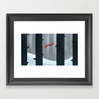 Lost Scarf Framed Art Print