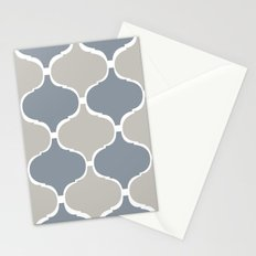 MARRAKECH PATTERN GreyBlue Stationery Cards