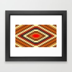american native traditional ethnic costume motif seamless pattern Framed Art Print