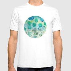 Circles Mens Fitted Tee SMALL White