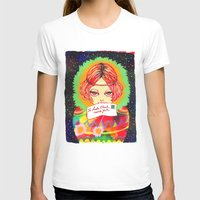 Don't forget to write to Santa Claus Womens Fitted Tee White SMALL